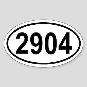 2904 Oval Sticker