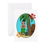Hula Baby Greeting Cards (Pk of 10)