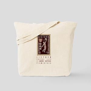Lithuania Basketball Stamp Tote Bag