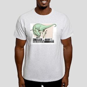 Dinosaur & Man Ash Grey T-Shirt