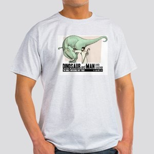 Dinosaur & Man Ash Grey T-Shirt
