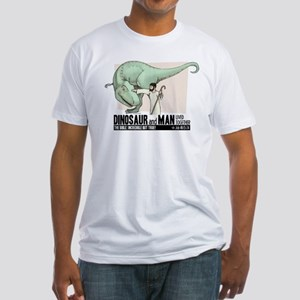 Dinosaur & Man Fitted T-Shirt
