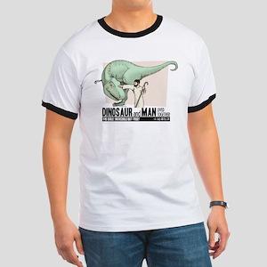 Dinosaur & Man Ringer T