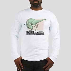 Dinosaur & Man Long Sleeve T-Shirt