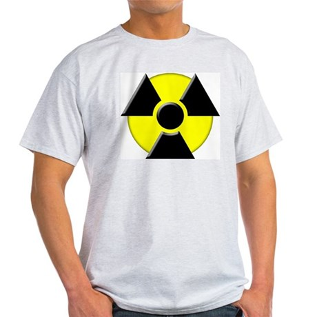 3D Radioactive Symbol Ash Grey T-Shirt