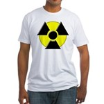 3D Radioactive Symbol Fitted T-Shirt