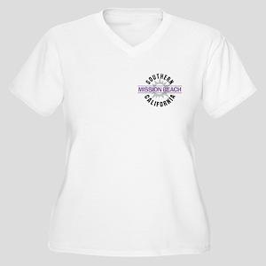 Mission Beach Women's Plus Size V-Neck T-Shirt