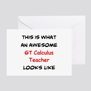 awesome gt calculus Greeting Card