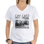 GOT GAS? Women's V-Neck T-Shirt