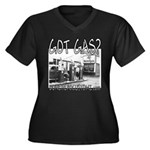 GOT GAS? Women's Plus Size V-Neck Dark T-Shirt