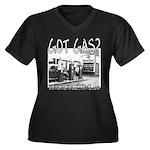 GOT GAS? Women's Plus Size V-Neck Dark T-Shirt