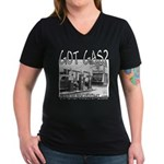 GOT GAS? Women's V-Neck Dark T-Shirt