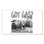 GOT GAS? Rectangle Sticker