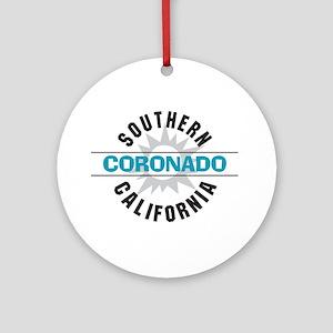 Coronado California Ornament (Round)