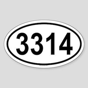 3314 Oval Sticker