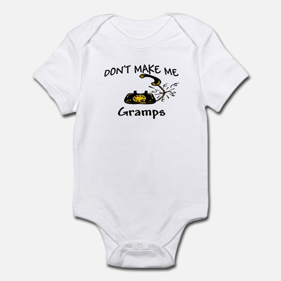 Call Gramps with Black Phone Infant Bodysuit
