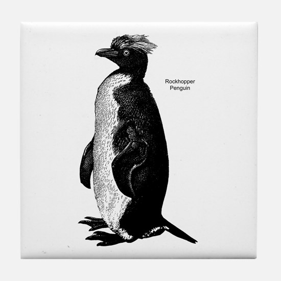 Rockhopper Penguin Tile Coaster