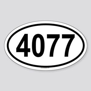 4077 Oval Sticker