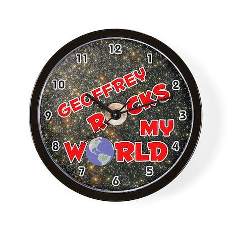 Geoffrey Rocks My World (Red) Wall Clock