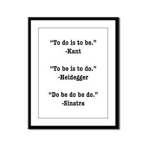 Do Be Do Framed Panel Print