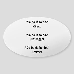 Do Be Do Oval Sticker