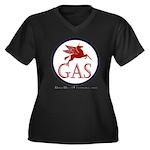 GAS! Women's Plus Size V-Neck Dark T-Shirt
