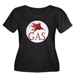 GAS! Women's Plus Size Scoop Neck Dark T-Shirt