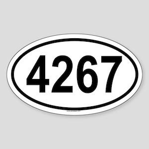 4267 Oval Sticker