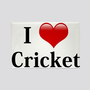 I Love Cricket Rectangle Magnet