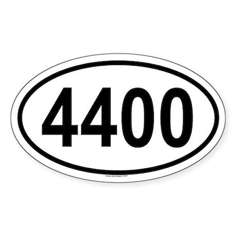 4400 Oval Sticker
