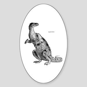 Iguanodon Dinosaur Oval Sticker