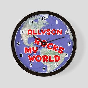 Allyson Rocks My World (Red) Wall Clock