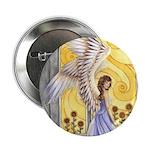 """""""Sunflower Angel"""" Sun Angel 2.25"""" Button (10 pack)"""