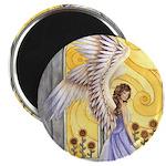 """""""Sunflower Angel"""" Sun Angel 2.25"""" Magnet 10 pack"""