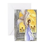 """""""Sunflower Angel"""" Angel Greeting Cards (Pack of 6)"""