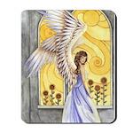 """Sunflower Angel"" Sun Flower Angel Mousepad"