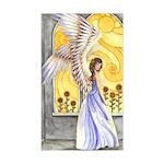 """""""Sunflower Angel"""" Sun Angel Rectangle Sticker"""