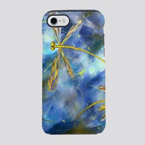 Yellow Dragonfly Flit iPhone 8/7 Tough Case
