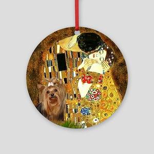 """Klimpt's """"The Kiss"""" & Yorkie Keepsake (Round)"""