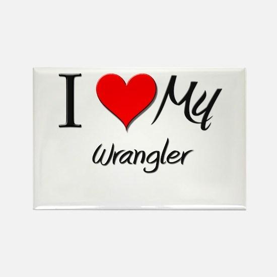 I Heart My Wrangler Rectangle Magnet