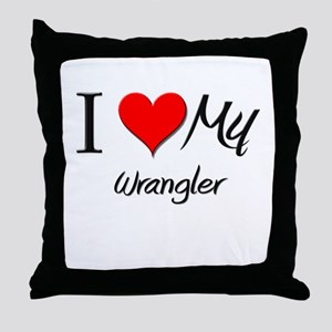 I Heart My Wrangler Throw Pillow