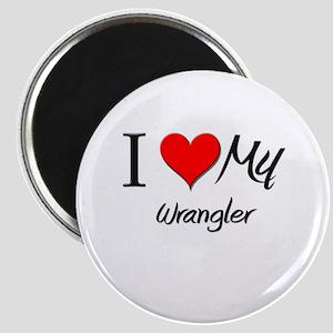 I Heart My Wrangler Magnet