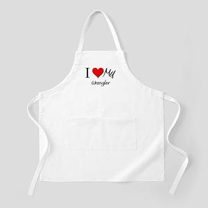 I Heart My Wrangler BBQ Apron