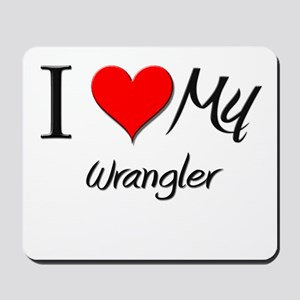 I Heart My Wrangler Mousepad