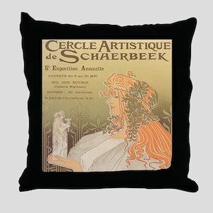 Cercle Artistique Throw Pillow