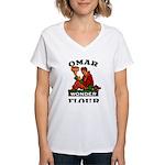 OMAR FLOUR Women's V-Neck T-Shirt