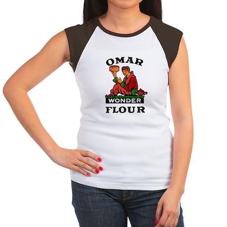 OMAR FLOUR Women's Cap Sleeve T-Shirt