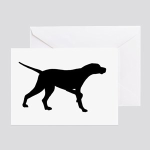 Pointer Dog On Point Greeting Card