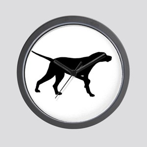 Pointer Dog On Point Wall Clock