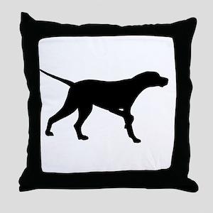 Pointer Dog On Point Throw Pillow